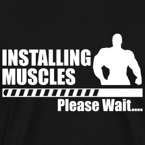 Installing muscles Gym Crossfit - Premium-T-shirt herr