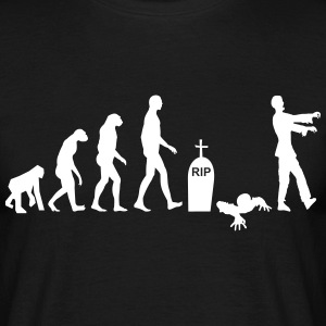 Zombie evolution - Halloween Rolig - T-shirt herr