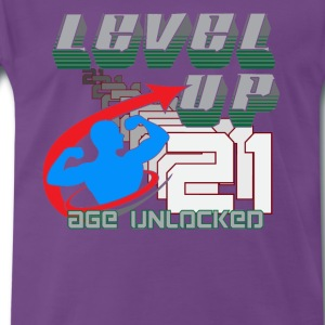 Level Up Gamer Birthday for 21st Birthday - Men's Premium T-Shirt