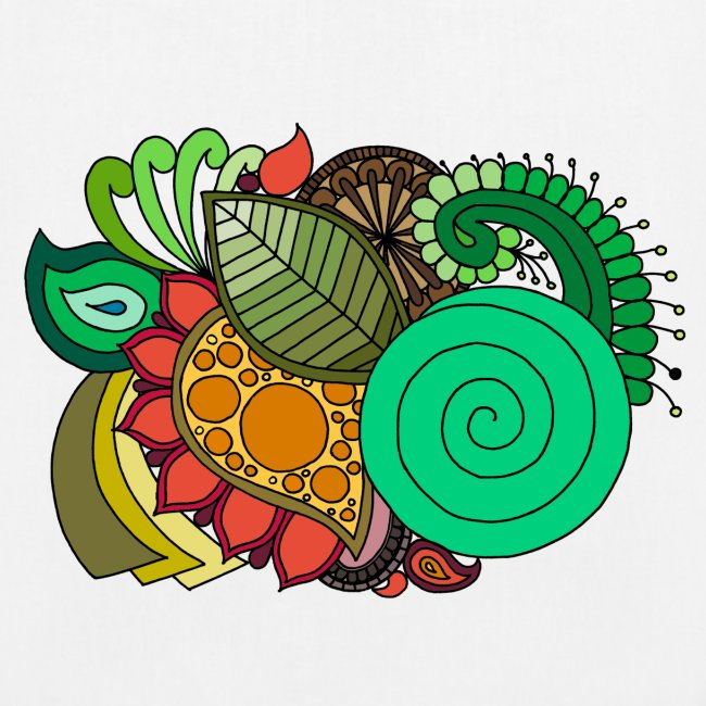 Coloured Leaf Mandala