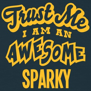 sparky trust me i am an awesome - Men's T-Shirt