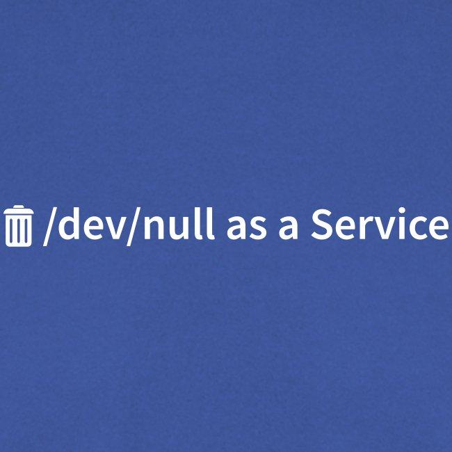 /dev/null as a Service - Männer Pullover