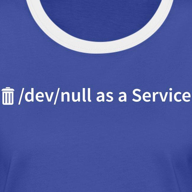 /dev/null as a Service - Frauen Kontrast-T-Shirt