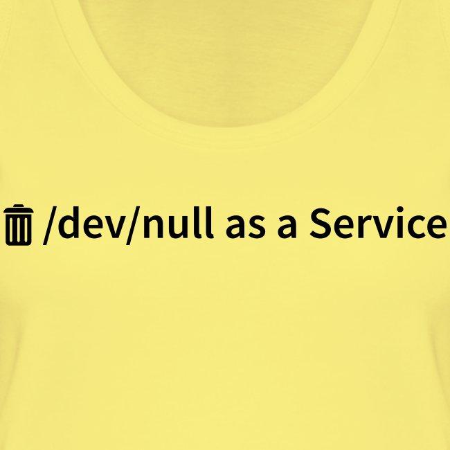 /dev/null as a Service - Frauen Bio Tank Top