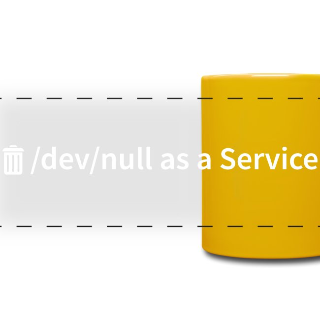 /dev/null as a Service - Panoramatasse farbig