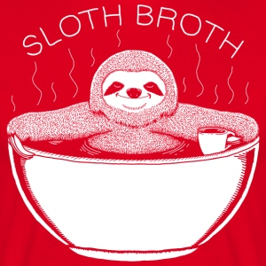 Sloth Broth White T-Shirts - Men's T-Shirt