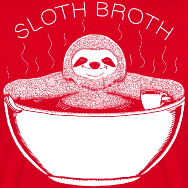 Rood Sloth Broth T-shirts - Mannen T-shirt