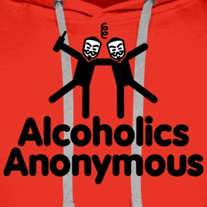 Alcoholics Anonymous AA Gensere - Premium hettegenser for menn