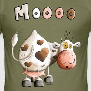 Moooo Koe T-shirts - slim fit T-shirt