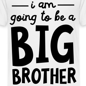 I Am Going To Be A Big Brother T-shirts - Premium-T-shirt barn