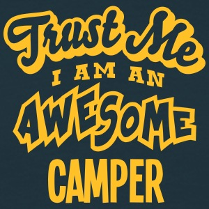 camper trust me i am an awesome - Men's T-Shirt