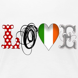 Love Eire Black - Frauen Premium T-Shirt