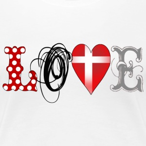 Love Denmark Black - Frauen Premium T-Shirt