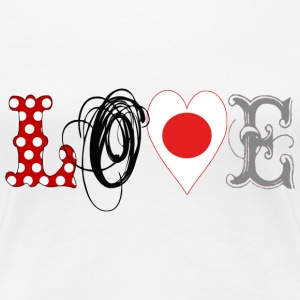 Love Japan Black - Frauen Premium T-Shirt