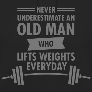 Old Man - Weight Lifting Pullover & Hoodies - Unisex Hoodie