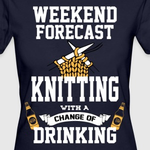 Knitting With A Chance Of Drinking T-Shirts - Women's Organic T-shirt