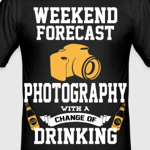 Photography With A Chance Of Drinking T-Shirts - Men's Slim Fit T-Shirt