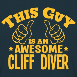 this guy is an awesome cliff diver - T-shirt Homme