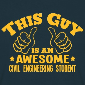 this guy is an awesome civil engineering - T-shirt Homme