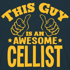 this guy is an awesome cellist - Men's T-Shirt