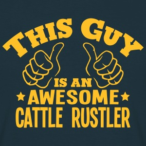 this guy is an awesome cattle rustler - Men's T-Shirt