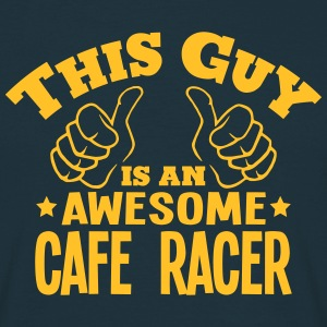 this guy is an awesome cafe racer - Men's T-Shirt