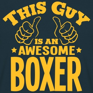 this guy is an awesome boxer - Men's T-Shirt