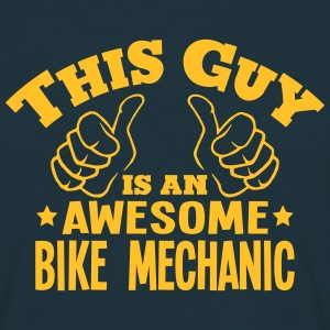 this guy is an awesome bike mechanic - Men's T-Shirt