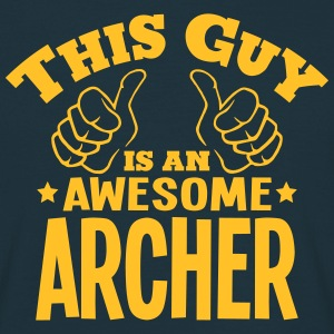 this guy is an awesome archer - Men's T-Shirt