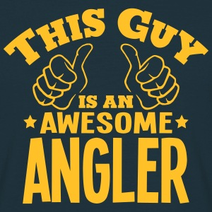 this guy is an awesome angler - Men's T-Shirt