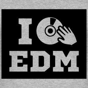I love EDM, shirt, men - Männer Slim Fit T-Shirt
