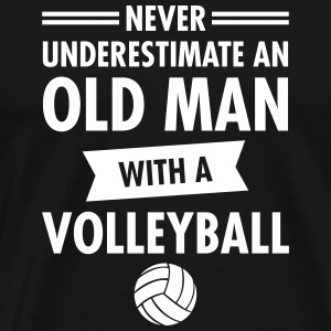 Old Man - Volleyball T-shirts - Mannen Premium T-shirt