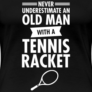 Old Man - Tennis T-Shirts - Frauen Premium T-Shirt