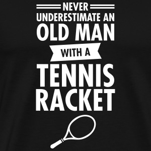Old Man - Tennis T-shirts - Mannen Premium T-shirt
