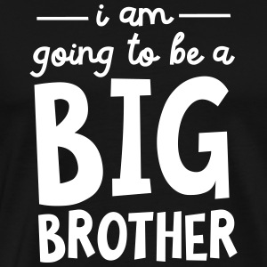 I Am Going To Be A Big Brother T-shirts - Herre premium T-shirt