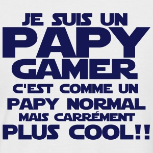 je suis un papy gamer Tee shirts - T-shirt baseball manches courtes Homme