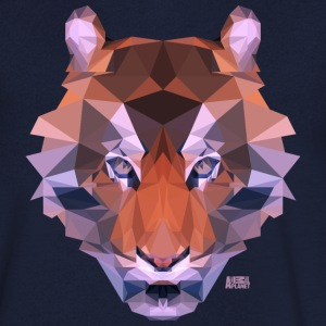 Animal Planet Big Cats Geometrical Tiger - Men's V-Neck T-Shirt