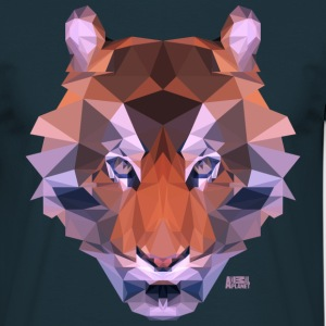 Animal Planet Big Cats Geometrical Tiger - Men's T-Shirt