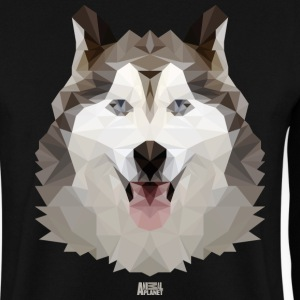 Animal Planet Dogs Husky Geometric Pattern - Men's Sweatshirt