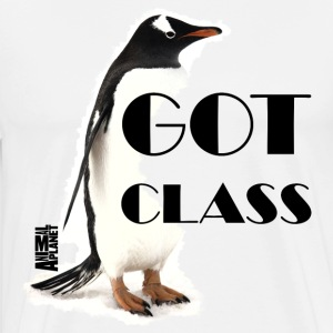 Animal Planet Pinguin Im Frack Got Class - Männer Premium T-Shirt
