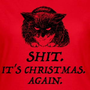 bad cat christmas T-skjorter - T-skjorte for kvinner
