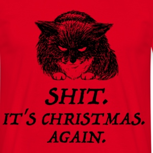 bad cat christmas Tee shirts - T-shirt Homme