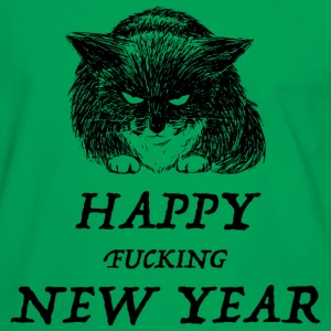 bad cat new year T-shirts - Mannen contrastshirt