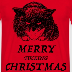 bad cat merry christmas Tee shirts - T-shirt Homme