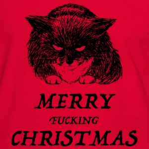 bad cat merry christmas Camisetas - Camiseta contraste hombre