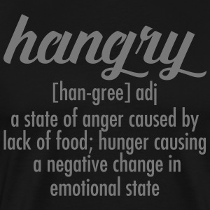 Hangry  Definition T-shirts - Mannen Premium T-shirt
