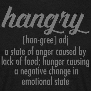 Hangry  Definition T-shirts - Herre-T-shirt