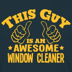 this guy is an awesome window cleaner - Men's T-Shirt