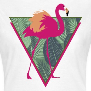 Animal Planet Birds Pink Flamingo With Leaves - Women's T-Shirt