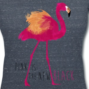 Animal Planet Flamingo Pink Is The New Black - Women's V-Neck T-Shirt